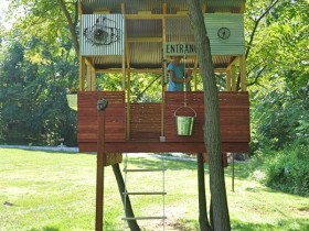 Beautiful tree house for a child