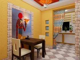 Dining room in the Egyptian style