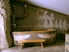 Bathroom design in Egyptian style