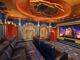 Home theater in the Egyptian style