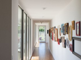 Corridor in eclectic style