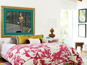 Bedroom design in eclectic style