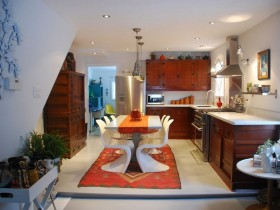 Kitchenette in eclectic style