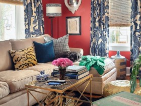 The interior of living room in eclectic style