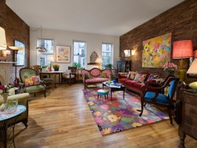 The idea of home design in eclectic style