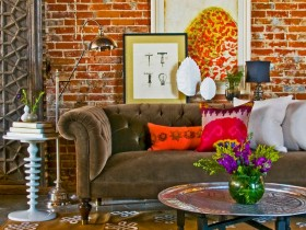Sofa in eclectic style