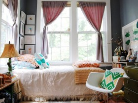 Bedroom in eclectic style