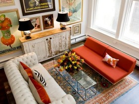 Interesting living room design