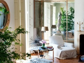 The living room in eclectic style