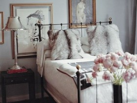 Luxurious bedroom in eclectic style
