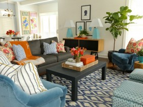 Room in eclectic style