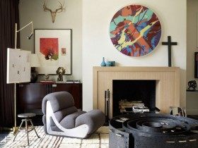 Interior design in eclectic style