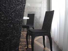 Design black chairs style contemporary modern