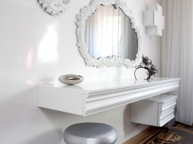 A beautiful white trellis design in modern style