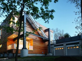 Beautiful two-storey house with wooden finish