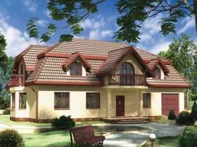 Красивый фасад современной дачи
