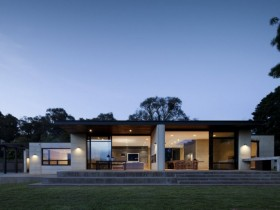 Country house with glass facade