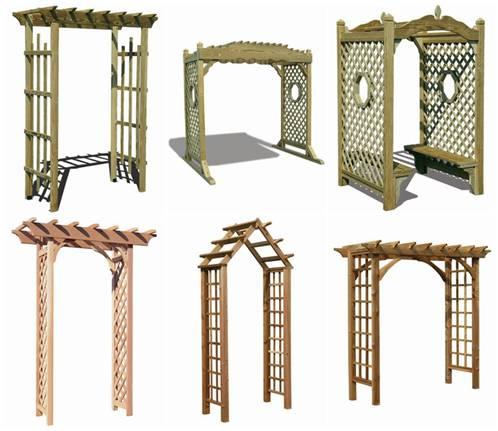 Виды деревянных пергол для дачи