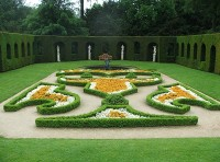 The design of the regular garden
