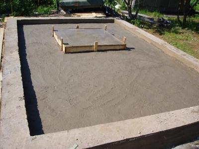 Фундамент под печь в баню