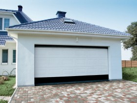 Garage with roller gate