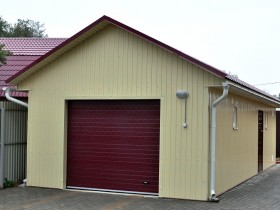 Country garage with gable roof
