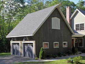 Two storey garage at the cottage