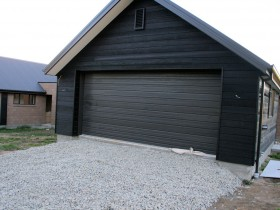 Country garage, dark wood