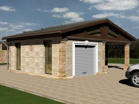 The draft of the suburban garage