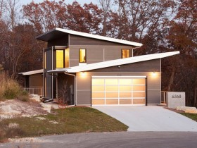 Modern house with garage