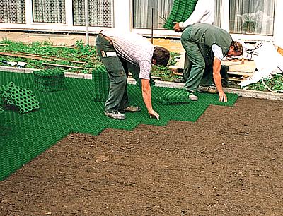 Газонная решетка для защиты газонной травы