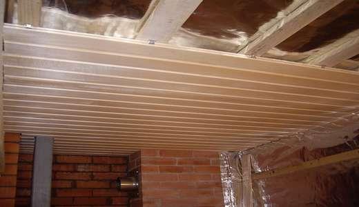 Гидроизоляция потолка в бане