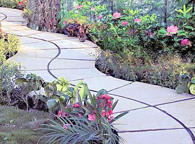 Извилистые садовые дорожки