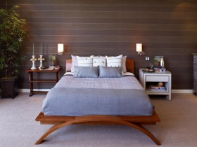 Bedroom interior wood