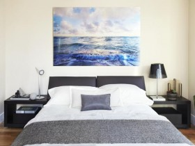 Bedroom interior in a Maritime style