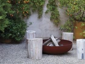 Идея зоны барбекю в саду