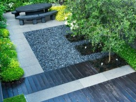 Оформление садового участка в стиле хай-тек