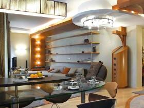 Поєднана вітальня в сучасному стилі
