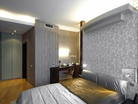 Bedroom interior in dark colors (another type)