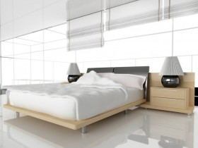 Bedroom hi-tech uslubidagi ichki