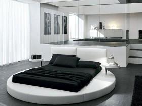 Совмещенная спальня в стиле хай-тек