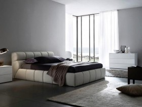 Bedroom in a modern interior