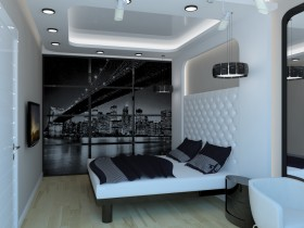 Bedroom interior in modern interior