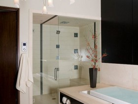 High-tech bathroom interior