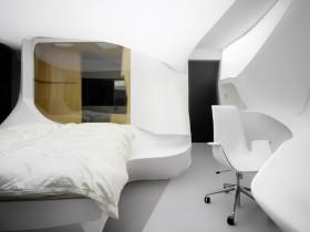 Интерьер спальни хай-тек