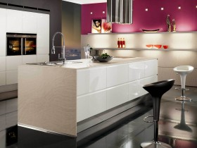 The idea of the kitchen design