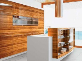 Creative design of kitchen in style hi-tech