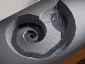 Creative design of wash basin in the style of hi-tech