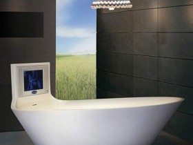 Bathroom in the style of hi-tech