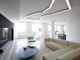 Creative living room minimalist architecture